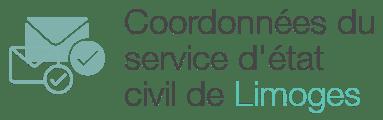 coordonnees service etat civil limoges