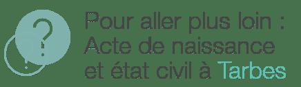 etat civil acte naissance tarbes