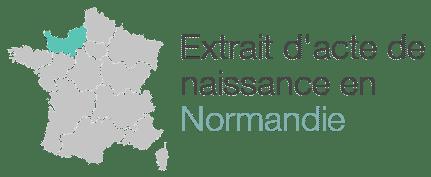 extrait acte naissance normandie