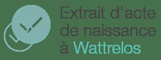 extrait acte naissance wattrelos