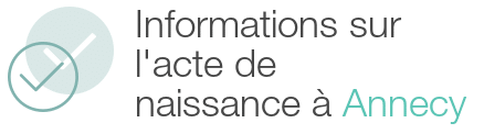 information acte naissance annecy